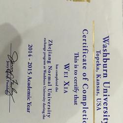 大三一年(2014.8-2015.5)我在美国Washburn University交换学习一年,英语各方面能力得到了大幅提高。