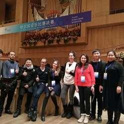 为第一届哈尔滨音乐比赛提供翻译服务