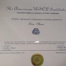 TESOL英语教师资格证