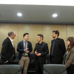 從左到右 澳洲建筑師 James Hampton, 正佳集團行政總裁Max Xie,澳洲建筑師 Socrati Seretis, 澳洲維生系統顧問Bruce Ernisse