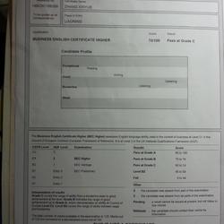 bec商务英语高级证书