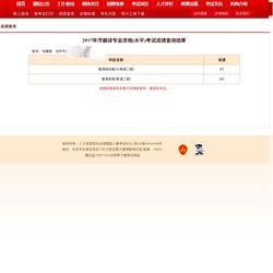 人事部翻译资格考试认证CATTI二级笔译