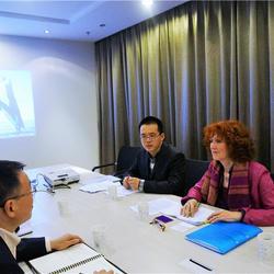 南京海纳科技公司座谈会现场口译