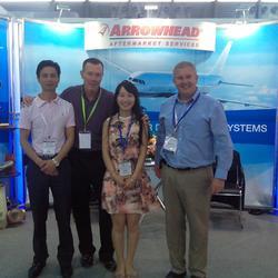 2015年6月10-12日在第四届2015在上海国际航空服务产业博览会为Arrowhead做会展翻译