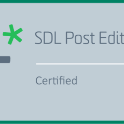 SDL Certification-Post Editing