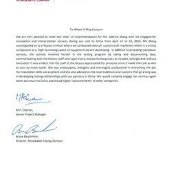 Reference Letter from the client - DLZ