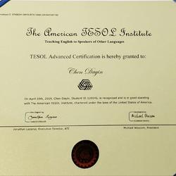 TESOL国际高级英语教师资格证书