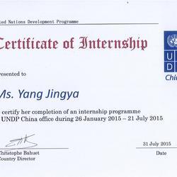 Half-year internship in UNDP China