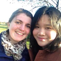 2012年 与英国闺蜜在一起