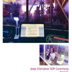 Jeep自由光下线仪式同传