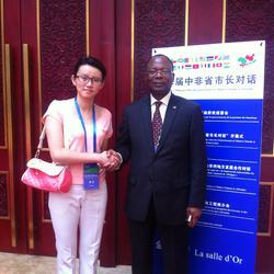 中非论坛省市长对话,喀麦隆使团翻译。
